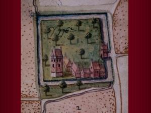 Hof ter Hofstad in kaartboek van Karel van Croÿ anno 1598
