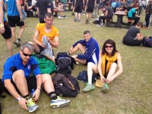 De Winnie, de Merckx, Bart en Kristel maken zich klaar voor de Spartacusrun