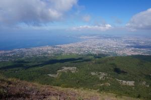 De Golf van Napels van op de Vesuvius