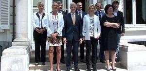 Groepsfoto-regering