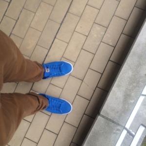 Blauwe Adidassen